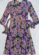 Fat Face 3/4 Sleeve Viscose Floral Dresses for Women