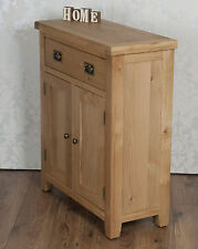 Chunky Solid Oak Harrogate Natural Slim 2 Door Drawer Sideboard Cabinet Cupboard