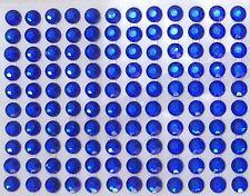 80 STRASS ADESIVI COLORE BLU 8 mm CORPO UNGHIE NAILART DECORAZIONI