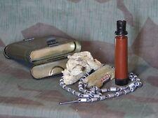 German Post WW2 K98 Tobacco Can Cleaning Kit With Bakelite Oiler.