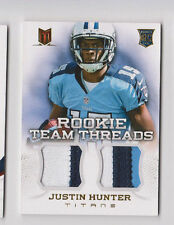 2013 Panini Momentum Justin Hunter Rookie Team Threads Prime Dual Patch #d /49