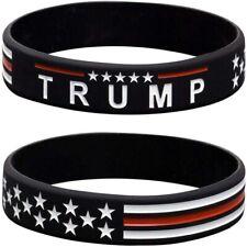 5 Pack Of TRUMP & American flag silicone wristband! KEEP AMERICA GREAT! MAGA!