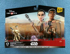 STAR WARS DISNEY INFINITY REY AND FINN FIGURES THE  FORCE AWAKENS 3.0 EDITION