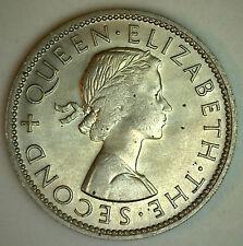 New Zealand 1963 Florin Bronze Large Size Coin  KM#28.2 BU Kiwi Bird  #R