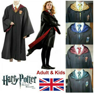 Adult&Kids Harry Potter Costume Robe Cloak Gryffindor Slytherin Hufflepuff Party