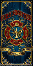 FIREFIGHTER FIRE DEPT DEPARTMENT LARGE BEACH BATH TOWEL 30 X 60