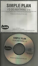 SIMPLE PLAN I'd do anything RARE  PROMO Radio DJ CD single 2002 USA MINT