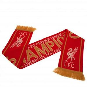 LIVERPOOL FC LEAGUE CHAMPIONS 2019/20 SCARF - OFFICIAL FOOTBALL GIFT, LFC, XMAS