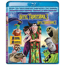 Hotel Transylvania 3 Monster Party Blu Ray + DVD + Digital Combo Pack NEW