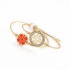 Bracelet Lot de 3 Perle Croix Orange Saumon Fin Retro Ancien Vintage CT6