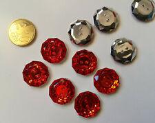 Botón rojo 11 mm X 25 UNIDADES 2 agujeros scrapbooking costura manualidades