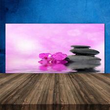 Crédence de cuisine en verre Panneau 120x60 Art Fleurs Pierres