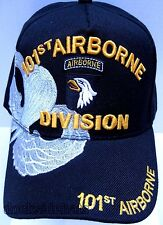 101ST AIRBORNE VETERAN Cap/Hat Black w/Shadow Military Style2*FREE SHIPPING*