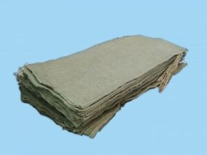 """50 New Hessian sand bags/sacks with tie string 33""""x14"""""""