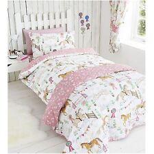 Horses Animals Girls Single Quilt Duvet Cover & Pillowcase Bedding Bed Set