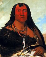 Chah-ee-chopes, Four Wolves, A Crow Indian Chief - 1832- George Catlin Art Print