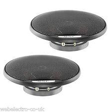 "37410 M'N'C 4"" 80W 2 Way Pair Car Door Shelf Super Thin Coaxial Speakers Grills"