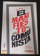 LIBRO EL MANIFIESTO COMUNISTA ENGELS Y MARX  DIARIO PÚBLICO  (UDADO)