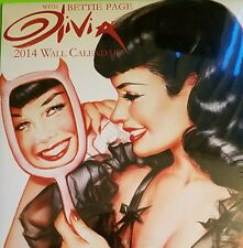 OLIVIA: BETTIE PAGE 2014 WALL CALENDAR - SEALED Brand New Condition Pin Up Art