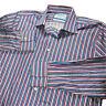 Mens Charles Tyrwhitt Long Sleeve Button Up Dress Shirt Striped Medium 15.5/35