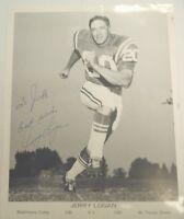 Jerry Logan Autographed NFL Photo with COA Colts TJ1