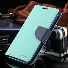 For Galaxy Note 8 Genuine MERCURY Goospery Mint Green Flip Case Wallet Cover