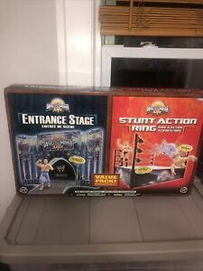 Jakks Pacific WWE WWF WrestleMania XXIV 24 Entrance Stage & Ring NEW IN BOX RARE