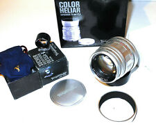 New MINT+++ Voigtlander Color Heliar ASPH 75mm f:2.5MC 50/75 Finder Bessa Leica