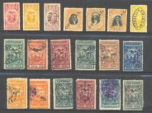 ECUADOR , 19 x stamps mounted mint or fine used , unsorted