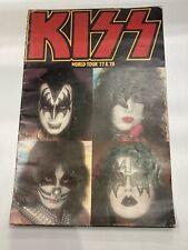 Kiss Tour Book Program World Tour 77 & 78 Ace Freeley Gene Simmons
