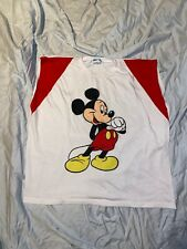 Vtg Mickey Mouse Disney Characters Tank Top Xl 1990's Clean