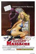 Mardi Gras Massacre Poster 01 Metal Sign A4 12x8 Aluminium