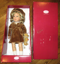 Klara From The Gotz Doll Collection By Sissel Skille With Her Steiff Teddy Mib