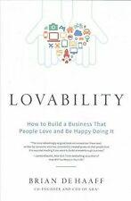 Lovability by Brian de Haaff (2017, Hardcover)