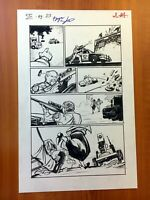 FOUR FREEDOM issue 2 original penciled inked signed 11x17 comic book artwork p23
