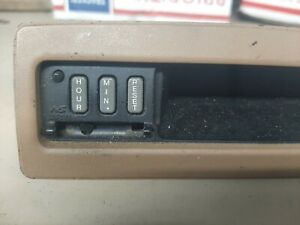 88-91 Honda Prelude Dash Mounted Digital Clock Time Machine Tan As Shown Tested