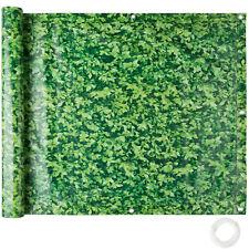 Balkonbespannung Sichtschutz Windschutz Sichtblende LxB 6x 0,9m grünes Laub