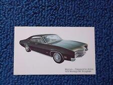 1970 Mercury Montego Postcard