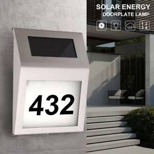 Solar Hausnummer Wasserdicht Beleuchtet Edelstahl Hausnummernlampe mit LED