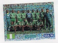figurina USA 94 SERVICE LINE NUMERO 226 NIGERIA SQUADRA