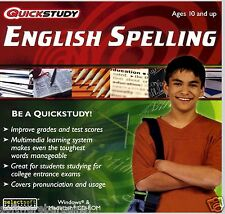 ENGLISH SPELLING QUICKSTUDY SPEED TO SUCCESS.BOOST GRADES/TEST SCORES! FREE SHIP