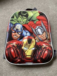 Avengers Kids Children School Travel Rucksack Backpack Bag Marvel Comic Hulk
