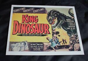"LOBBY CARD POSTER. 1955 Sci-Fi/Horror Movie 'King Dinosaur' 11.5"" x 9.5"""