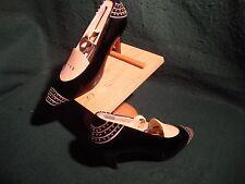 Exquisite Vintage Studded GAROLINI Patent Black Leather  sz 5 M Shoes Italy