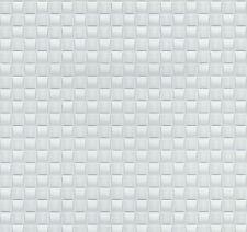 Moderno Bianco e Argento Intreccio Piastrella Carta Da Parati Mosaico Incollare Il Muro 02468-10
