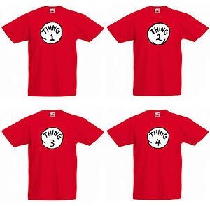 Thing 1 2 3 4 5 6 7 8 T-shirt Fancy Dress Cat Hat Kids & Adults T-shirts T-SHIRT