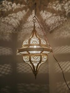 Moroccan pendent oriental brass hanging lamp Ceiling light chandelier handmade