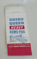 5 Vintage Dairy Queen Foil Take Out Bag * 1950s 1960s * UNUSED New Old Stock
