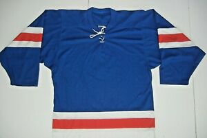 CCM Blue/Red Mesh #4 ICE HOCKEY JERSEY United States Colors Shirt Men's Adult S
