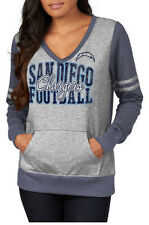NFL San Diego Chargers Great Performer Women's Fleece Pullover-Navy/Gray